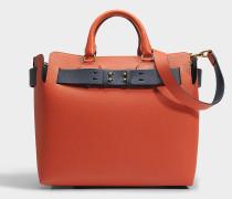 Belt Tasche Medium aus orangefarbenem Marais Leder
