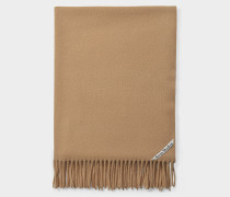 Canada New Scarf in Camel Brown Wool