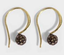 Phenix Ohrringe aus 24K goldfarbenem-plattiertem Silber und Diamanten