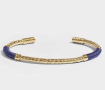 Armband Soho aus vergoldetem Messing in Marineblau