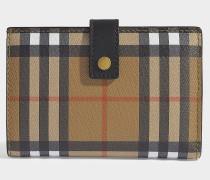 Marylebone Flap Wallet in Black Calfskin
