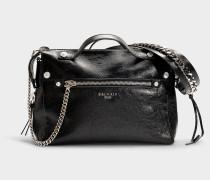 Mini Handtasche Bbiker aus schwarzem Kalbsleder