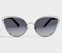 Sonnenbrille aus schwarzem Metall und Acetat