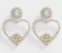 Ohrringe Renata Crystal aus vergoldetem Messing und Kristallen