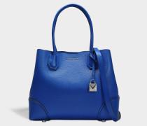 Mercer Gallery Medium Leder Satchel Tasche aus Electric blauem Mercer Pebble Leder