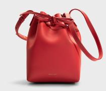 Bucket Bag Mini Bucket aus rotem Kalbsleder