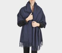 Schal Canada New aus marineblauer Wolle