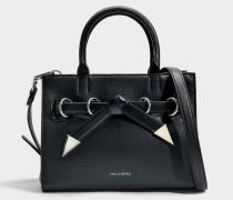 K/Rocky Schleife Small Shopper Tasche aus schwarzem Kalbsleder