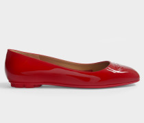 Broni Ballerinas aus rotem Naplak Leder