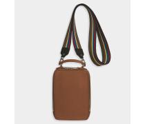 Handtasche Pavé aus goldenem Kalbsleder