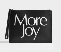 Clutch More Joy aus schwarzem und weißem Kalbsleder