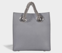 Genesis Shopper Tasche aus Washed Denim Kalbsleder