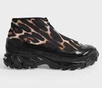 Sneakers mit Reißverschluss aus Polyester mit Leo-Print