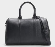 Handtasche Moyen Duffle Perforé aus schwarzem Synthetikmaterial