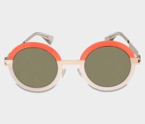 Studio 4.3 Sonnenbrille aus Tangerine Des Mod Acetat und Metall