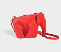 Elephant Mini Tasche aus rotem Kalbsleder