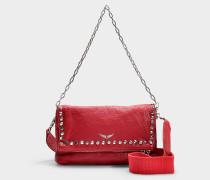 Handtasche mit Schulterriemen Rocky Bubble aus rotem Kalbsleder