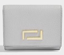 Pia Double Geldbörse aus Lichen Leder