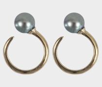 Ohrringe aus Gold mit Süßwasserperle