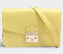 Metropolis small Shoulder Tasche aus cedrofarbenem Ares Leder
