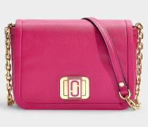Handtasche The Mini Squeeze mit Kettenriemen aus Kalbsleder Magenta