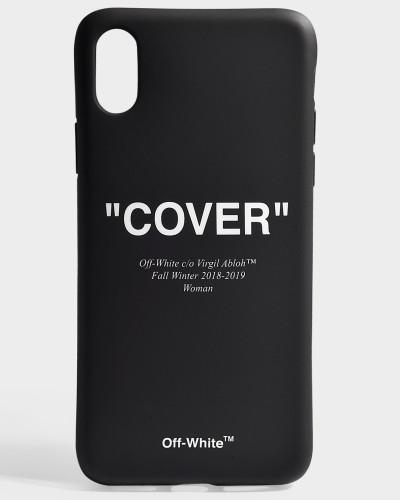 Handyhülle iPhone X Quotes aus schwarzem und weißem Synthetikmaterial