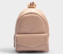 Rucksack Cassie aus rosa Kalbsleder