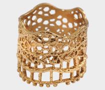 Mit 18 Karat überzogener Lace Ring mit Laser Cut