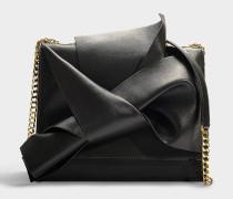 Große Handtasche Bow aus schwarzem Kalbsleder
