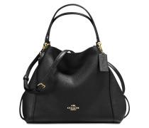Edie 28 Shoulder Bag aus schwarzem Kalbsleder
