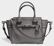 Swagger 21 Carryall Tasche aus grauem Kalbsleder