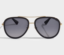 Sonnenbrille mit Polarized Linsen aus goldenem Metall