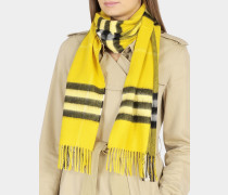 Giant Icon Scarf in Gorse Yellow Cashmere