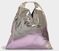 Handtasche Japanese aus bedruckter Baumwolle in Rosa