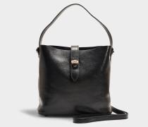 Handtasche Hobo Iconic Mini aus schwarzem Kalbsleder