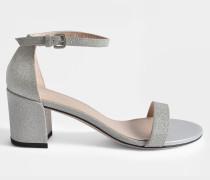 Simple Glitzer Sandalen Silber