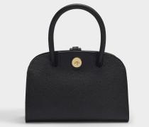Tasche Micro Ladybird in schwarzem, rissigem Leder