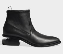 Stiefeletten Stretch Kori aus schwarzem Leder