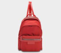 Öko Nylon Falabella Go Mini Backpack aus Lipstick Öko Leder