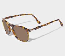 0PO9714S Sonnenbrille aus braunem Acetat