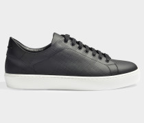 Westford perforated Sneaker aus schwarzem Leder