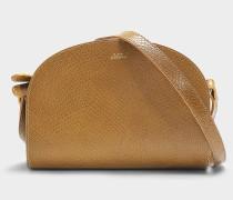 Tasche Demi-Lune aus camelfarbenem Kalbsleder