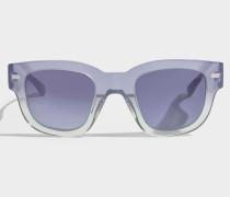 Frame Sonnenbrille aus violettem grünemem und blauem Degrade Acetat