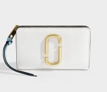 Portemonnaie Compact aus Kalbsleder mit Polyurethan Beschichtung in Weiß