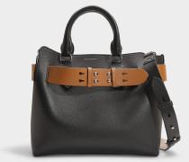 Kleine Handtasche The Belt aus schwarzem Kalbsleder