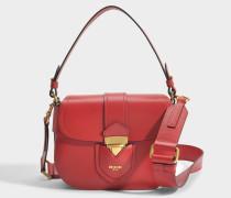 Hidden Lock Shoulder Bag aus Burgundy Kalbsleder