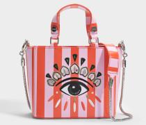 Icon Top Handle Tasche aus rotem Split Leder
