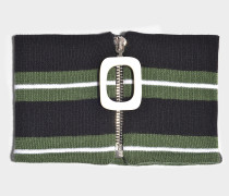 Choker JWA Stripe aus Merinowolle in Smaragdgrün