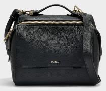 Kleine Handtasche Dalia aus schwarzem Kalbsleder