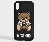 Hülle iPhone XR Toy aus schwarzem PVC